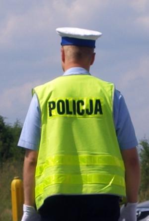 Policjant sekcji drogowej