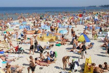 Zatłoczona plaża