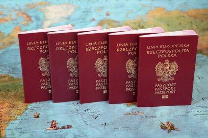 Polskie paszporty na mapie świata