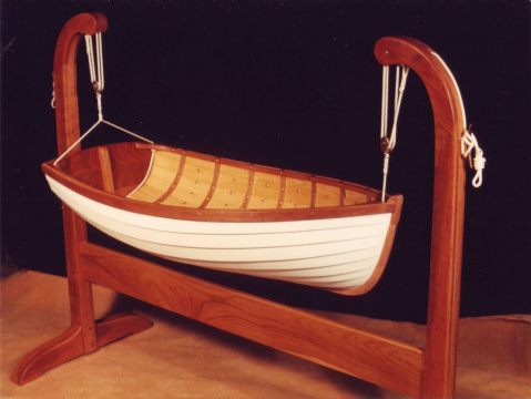 kołyska łódka